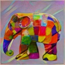 Rainbow Elephant Watercolor